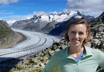 Jaclyn at Aletsch Glacier