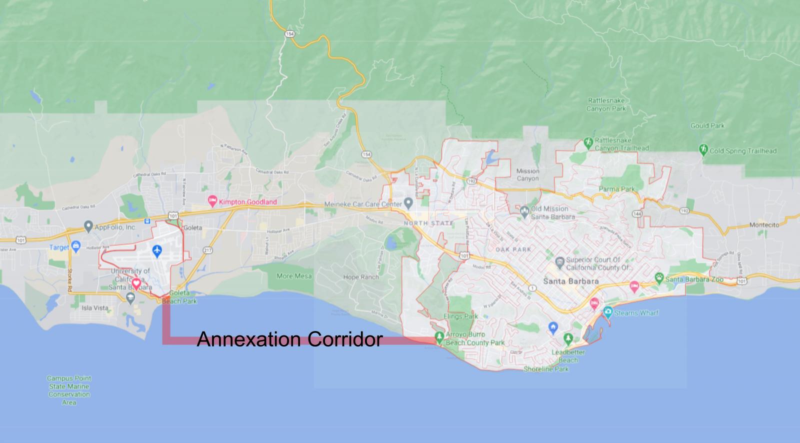 SB city limits map