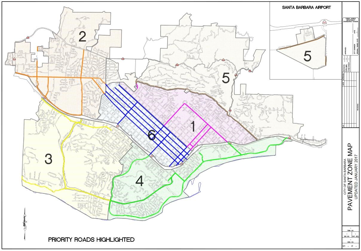 Santa Barbara City repaving zones